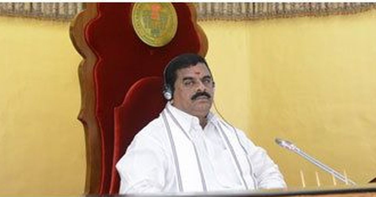 Telangana Legislative Council Chairman hit by microphone in assembly