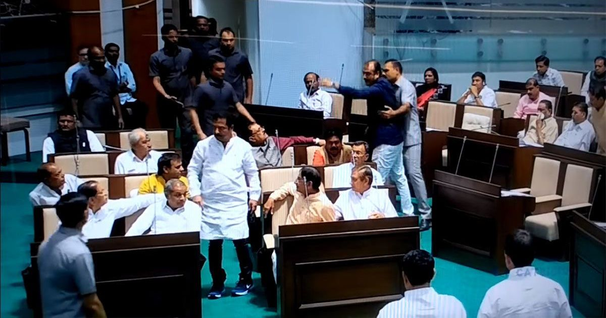 Gujarat: Three Congress MLAs suspended for attacking BJP lawmaker in Assembly, creating a ruckus