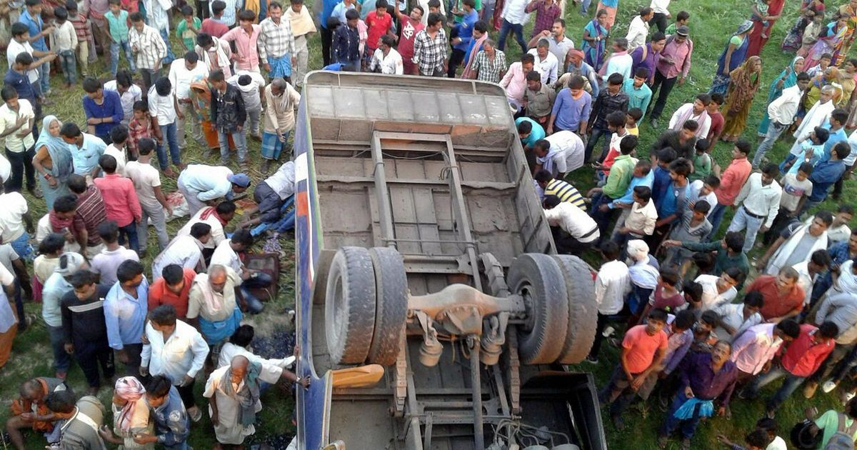 People Killed as Bus Falls Into Pit in Bihar's Sitamarhi