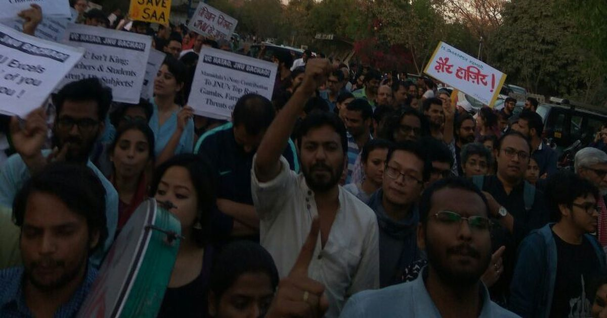 JNU dean files FIR against 17 students for manhandling, abusing him