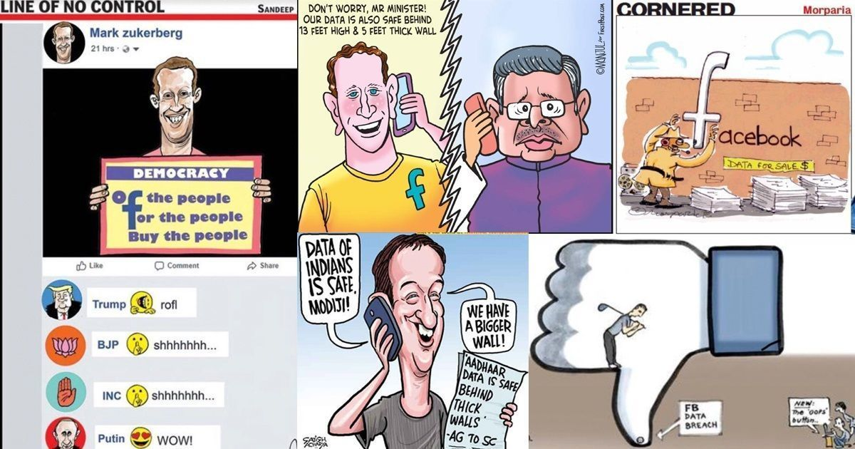 Amid Cambridge Analytica-Facebook row, cartoonists show that Indians have Aadhaar to worry about too