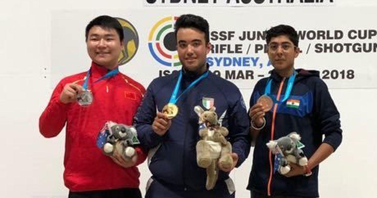 Vivaan Kapoor wins Trap bronze in Junior Shooting World Cup