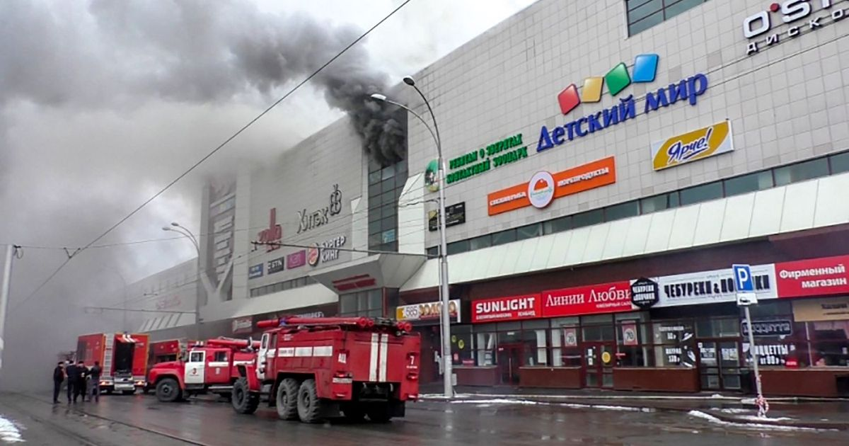 64 dead in fire at Russian shopping mall packed with children