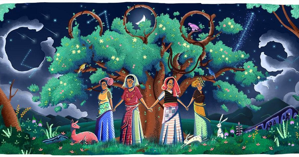 Today's Google Doodle celebrates 45 years of the Chipko Movement