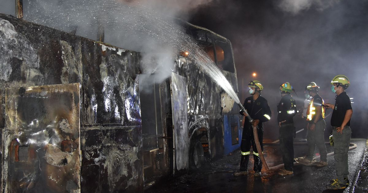 Thailand: Fire on Bangkok-bound bus kills 20 migrant workers from Myanmar