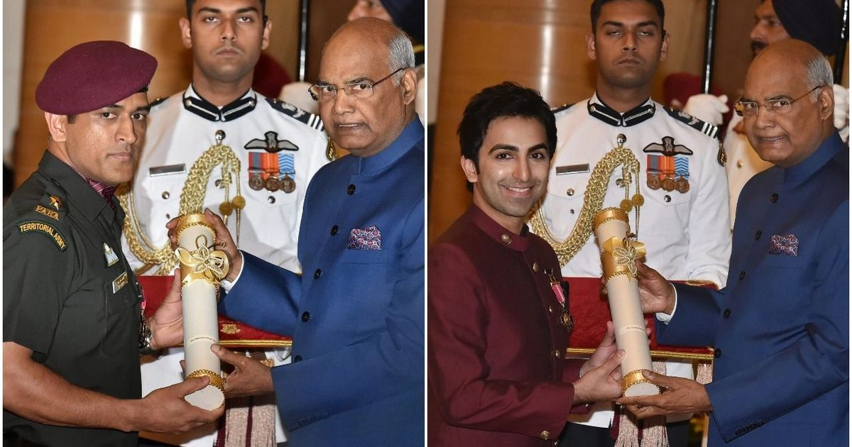 MS Dhoni, Pankaj Advani conferred with Padma Bhushan