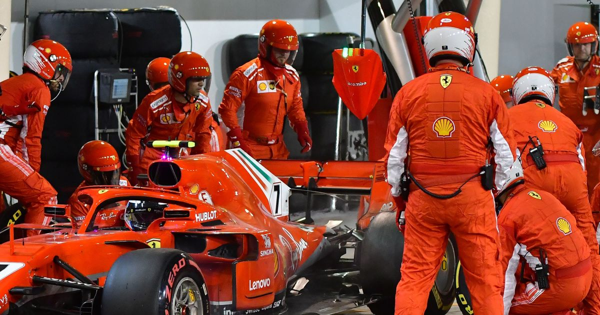 Ferrari mechanic suffers double leg fracture after Raikkonen runs him over during pit stop