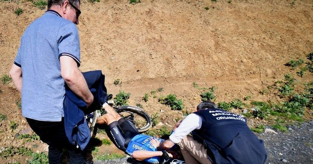 Image result for Belgian Cyclist Michael Goolaerts Dies at 23 after a crash in Paris-Roubaix.