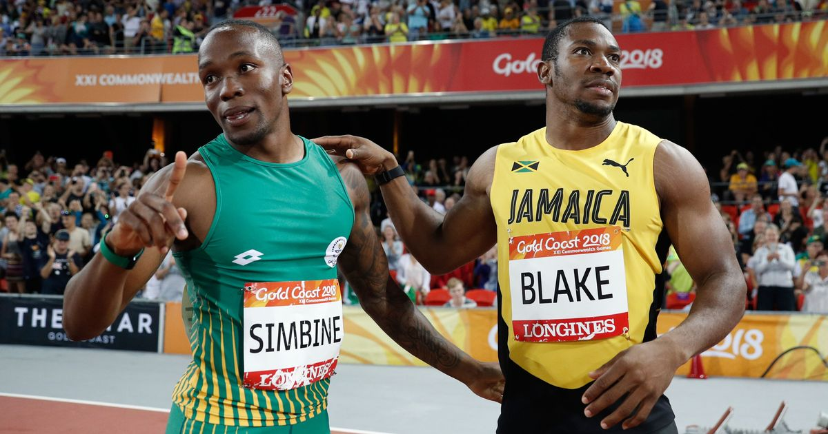 Yohan Blake defeated by South Africa's Akani Simbine