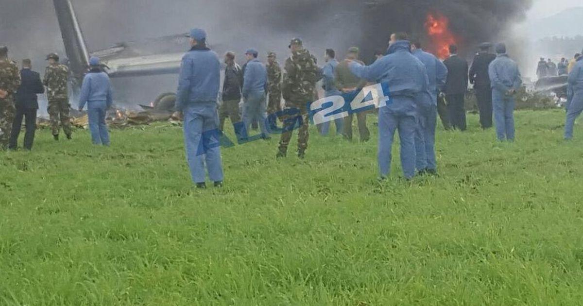 अल्जीरिया में एक सैन्य विमान दुर्घटनाग्रस्त