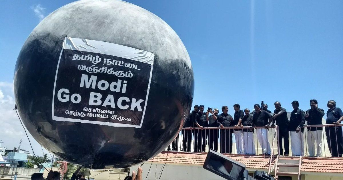 #GoBackModi: Black flags, balloons, protests welcome PM Modi in Chennai