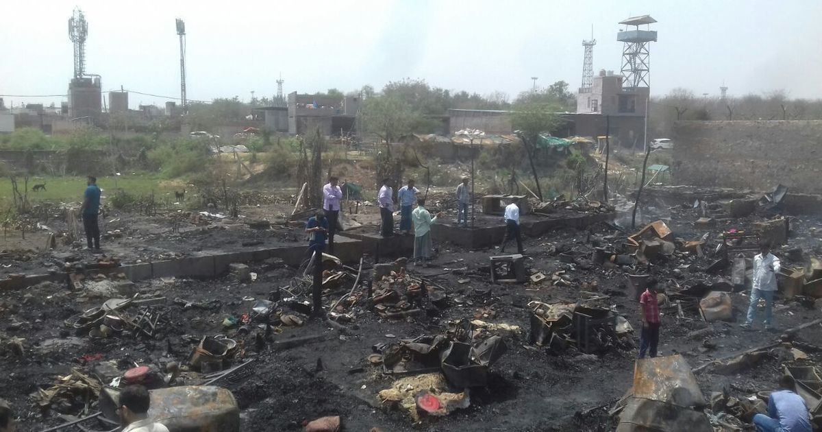 Fire destroys Delhi's only Rohingya camp, no casualties reported