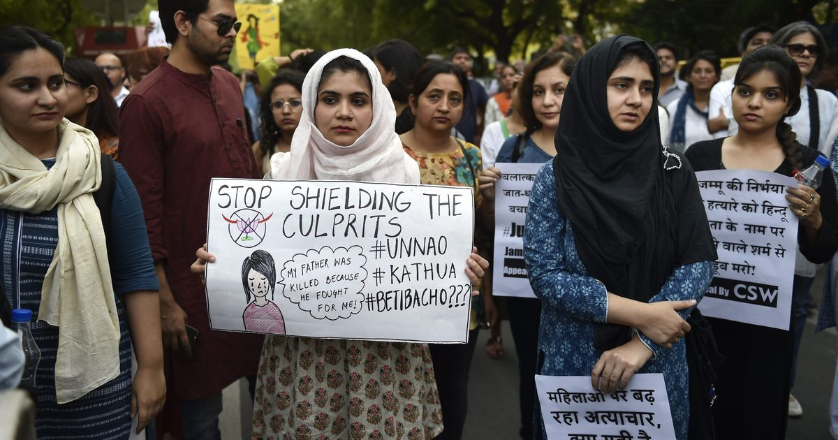 Vizag protests against the rapes in Kathua and Unnao