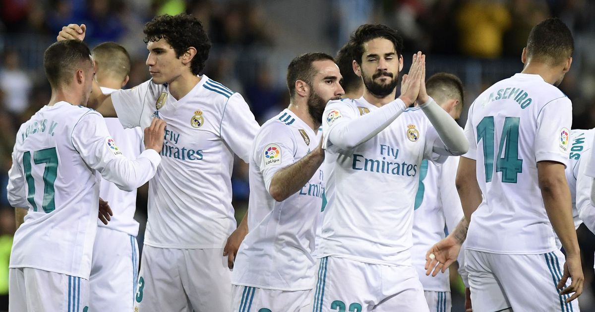 Real Madrid beat Malaga without Ronaldo and Bale, rise to third spot in La Liga table