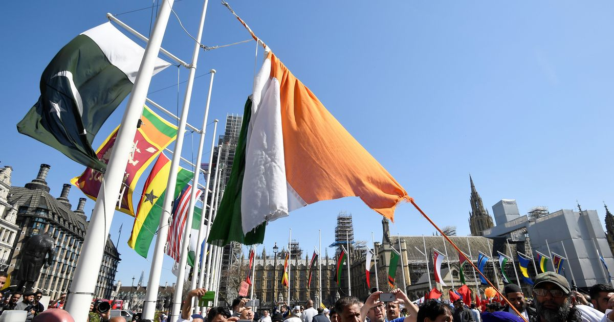 Protestors tear down Indian tricolour in London during Narendra Modi's UK visit