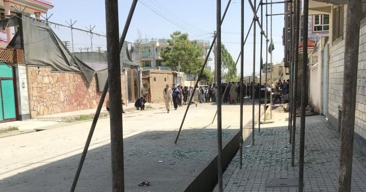 Corrected - Blast at election centre in Afghan capital, at least four dead