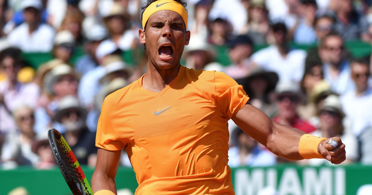 Rafael Nadal won his Monte Carlo Masters semi-final against Grigor Dimitrov