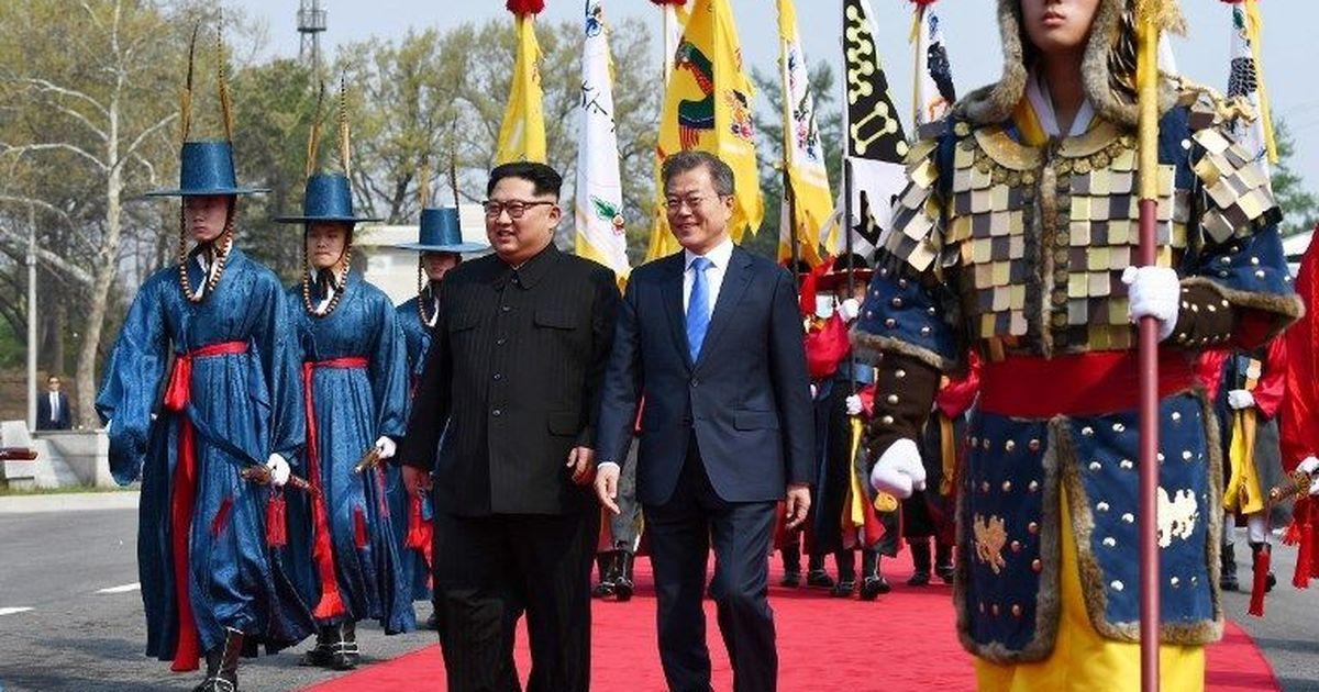 किम जोंग उन ने पहली बार दक्षिण कोरिया की धरती पर कदम रखा