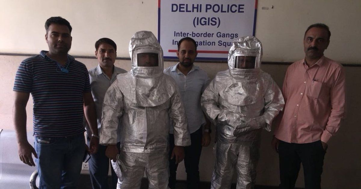 Image result for Two thugs with weapons arrested in delhi