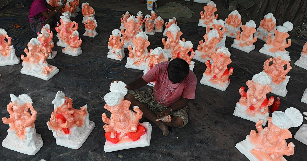 As Ganesh comes to Mumbai, the environmental debate over clay versus plaster of Paris continues