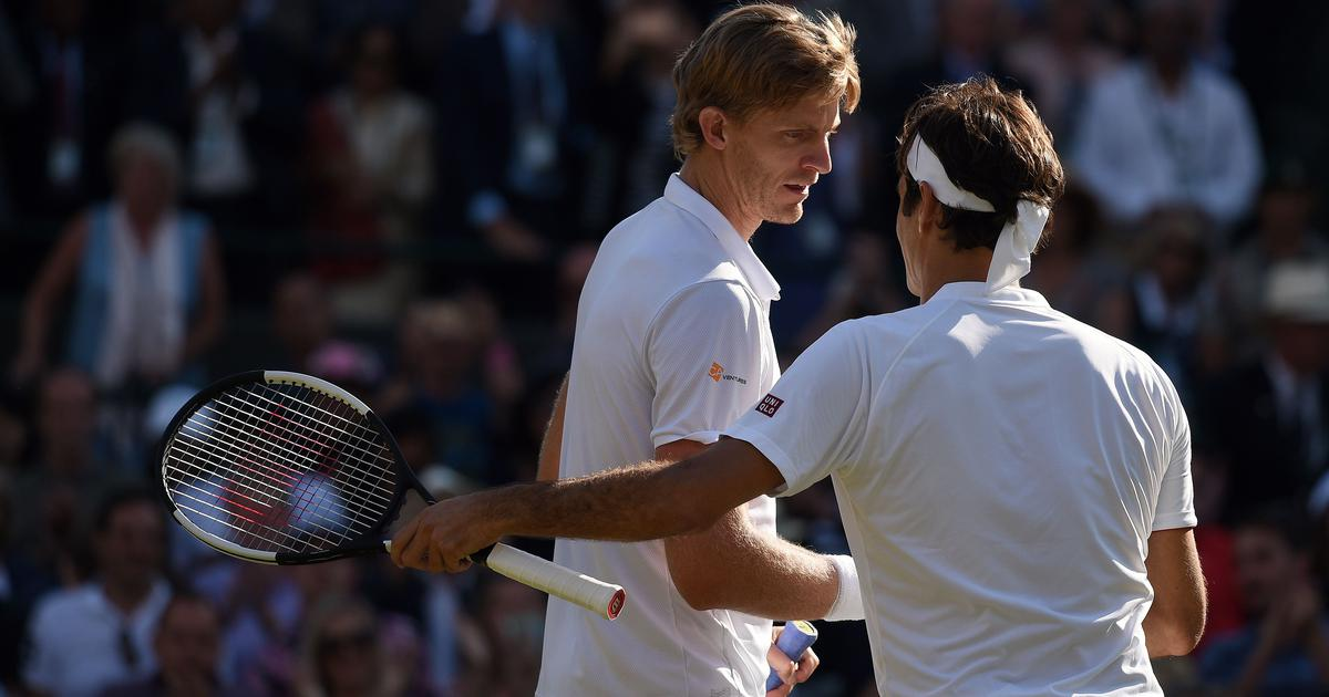 Serving up a shock: Federer was 'average' when he needed his A-game against a relentless Anderson
