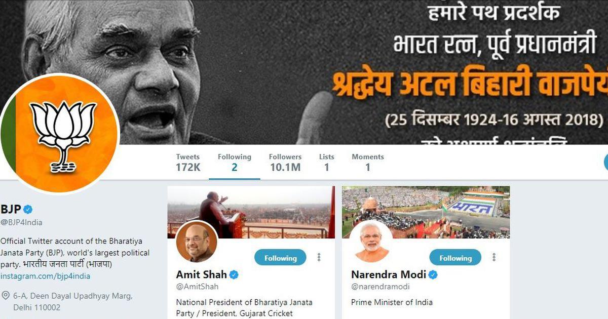राजनीतिक दलों के ट्विटर अकाउंट उनके बारे में क्या बताते हैं?