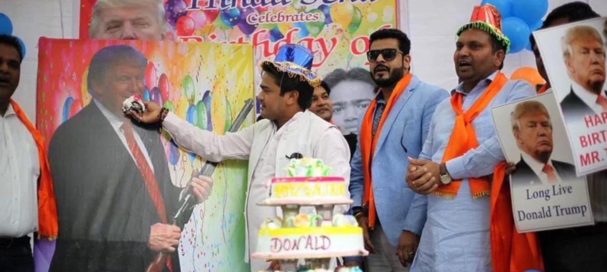 Photos: When the Hindu Sena threw a birthday bash for Donald Trump