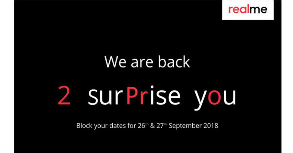 Realme 2 Pro India launch on September 26th, 27th, media invites suggest