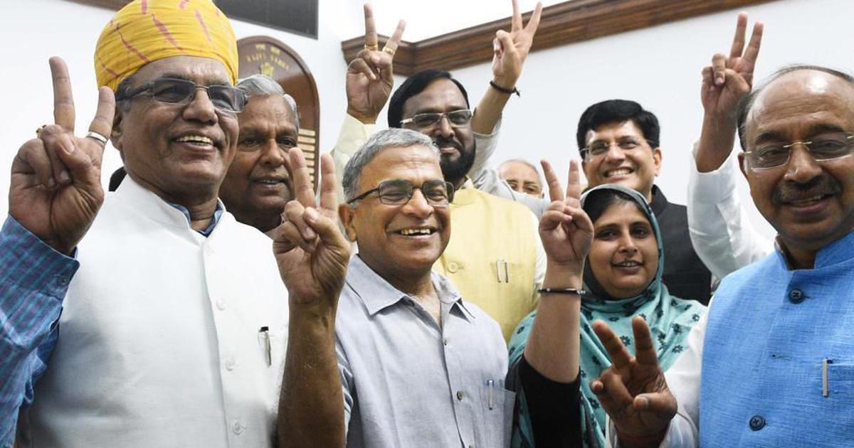 'भारत का तो कहना मुश्किल है, लेकिन आज राज्यसभा कांग्रेस मुक्त जरूर हो गई है!'