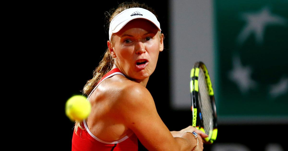 Italian Open: Wozniacki survives scare against Sevastova but progresses to quarter-finals