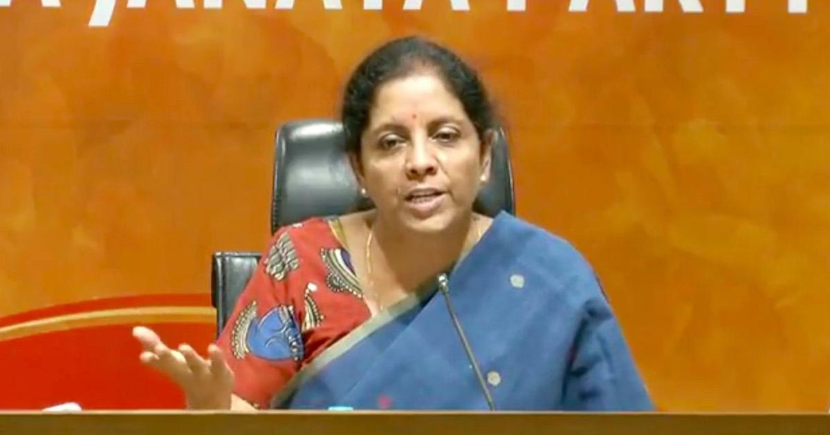 Forces in JNU are waging a war against India, alleges Nirmala Sitharaman