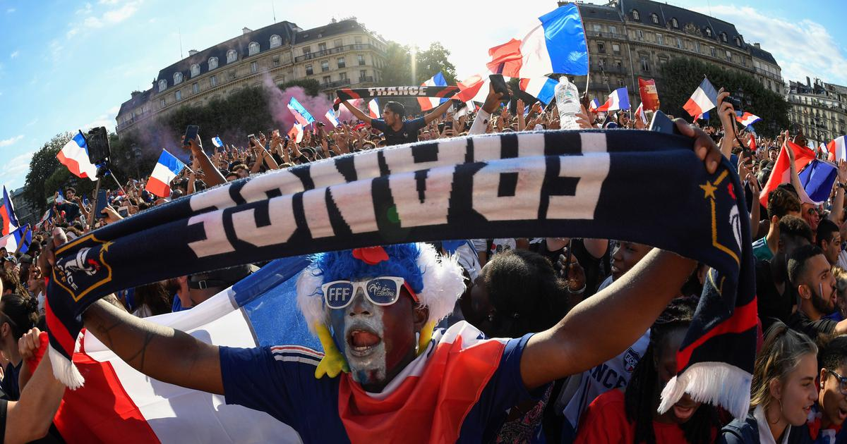 France Celebrates Soccer World Cup Triumph