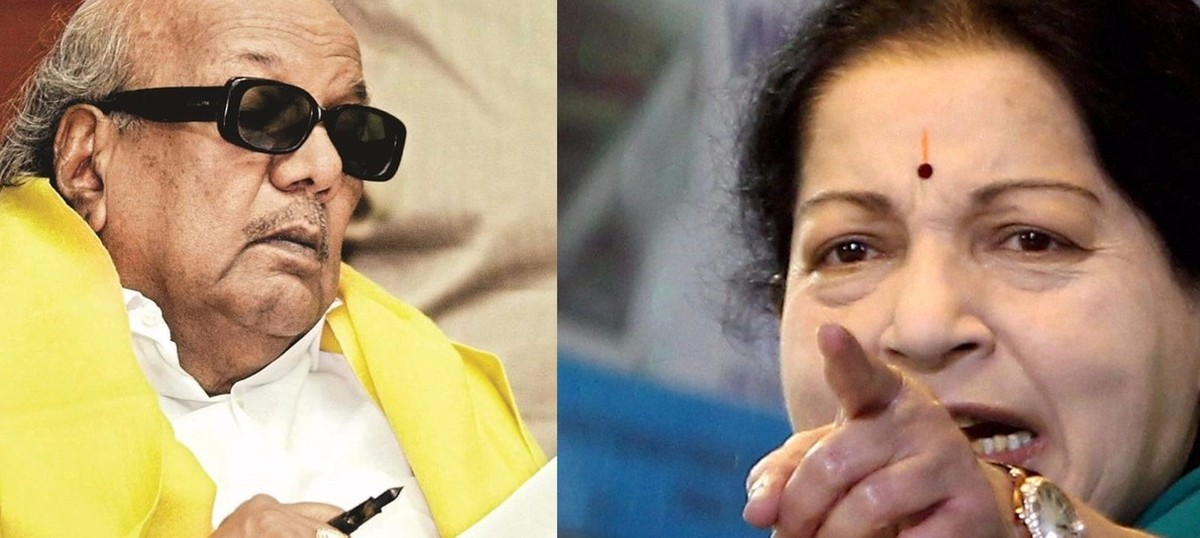 Image result for Reason behind Karunanidhi & Jayalalitha fighting with each other