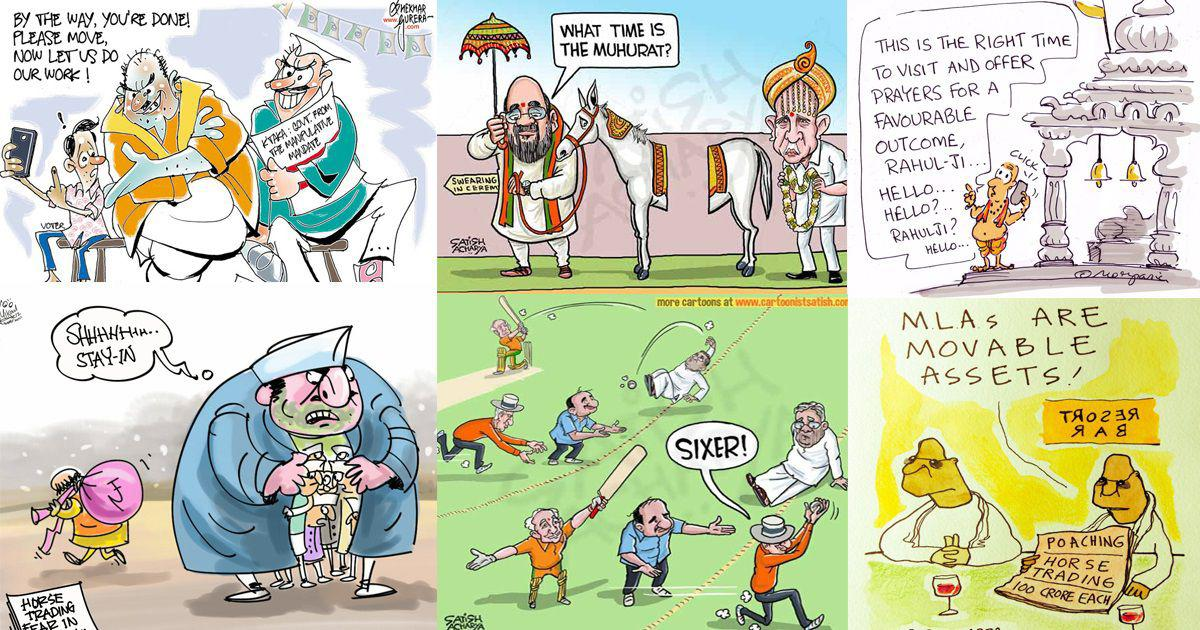 in cartoons the many twists and turns of the karnataka assembly