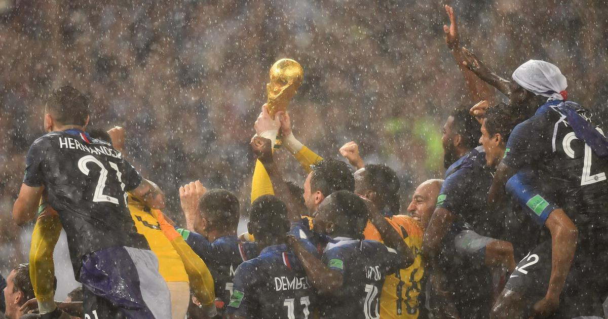 Champions France hoist the World Cup in Moscow