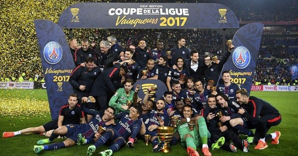 PSG beat Monaco 4-1 to lift the Coupe de La Ligue for the fourth straight time