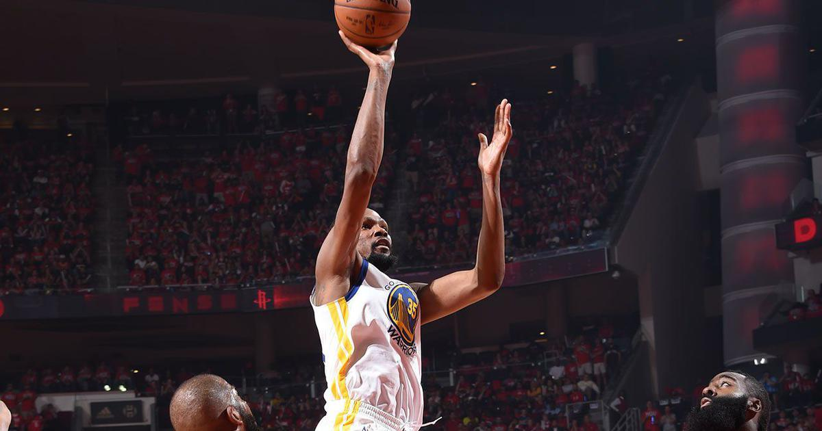 Golden State register a 119-106 victory in Western Conference final opener over Houston Rockets
