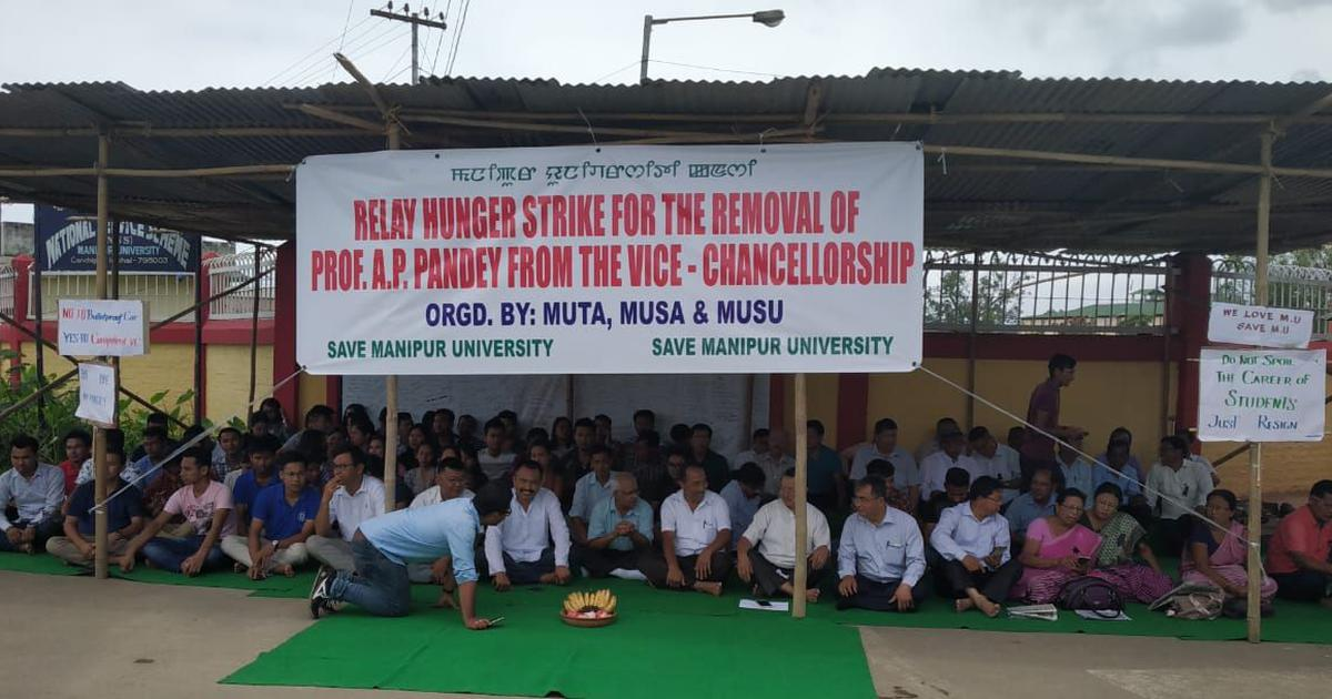 'His office was a meeting point for political leaders': Why Manipur University wants its VC out
