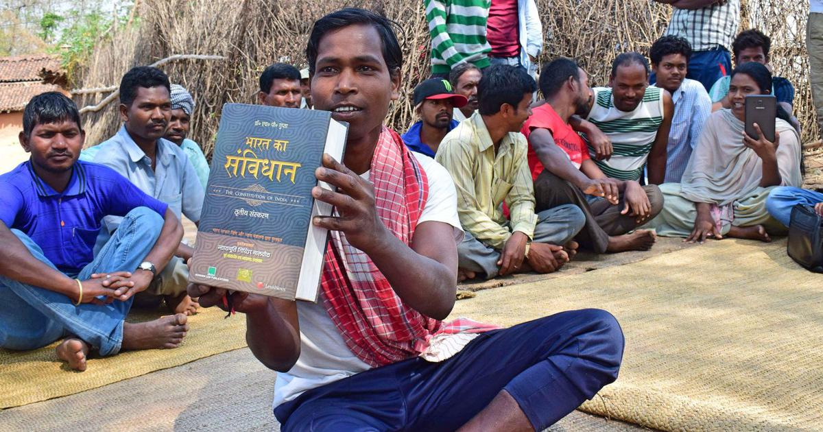 The Constitution set in stone: Adivasis in Jharkhand are using an old tradition as a novel protest