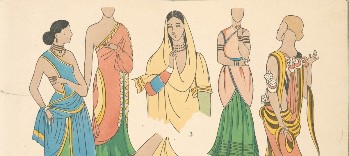 437ce5935e05 Illustrations  Indian women s fashion from the early 20th century and before