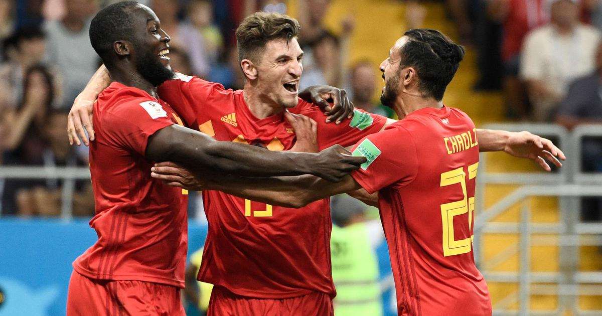 World Cup: Chadli scores injury-time winner as Belgium fight back from 0-2 down to defeat Japan 3-2