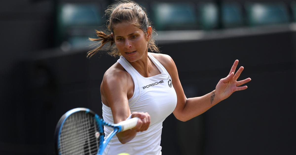 Goerges ends Bertens's giant-killing run to set up Wimbledon semi-final with Serena