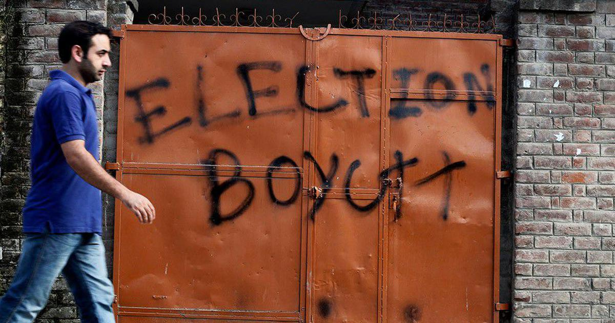 Three-phase voting for a single Lok Sabha seat is unprecedented even in strife-torn Kashmir