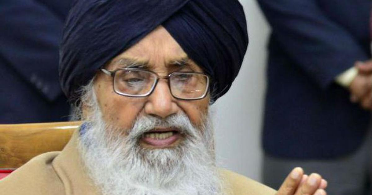 Farm laws: Former Punjab CM Parkash Singh Badal returns Padma award to protest 'betrayal' of farmers