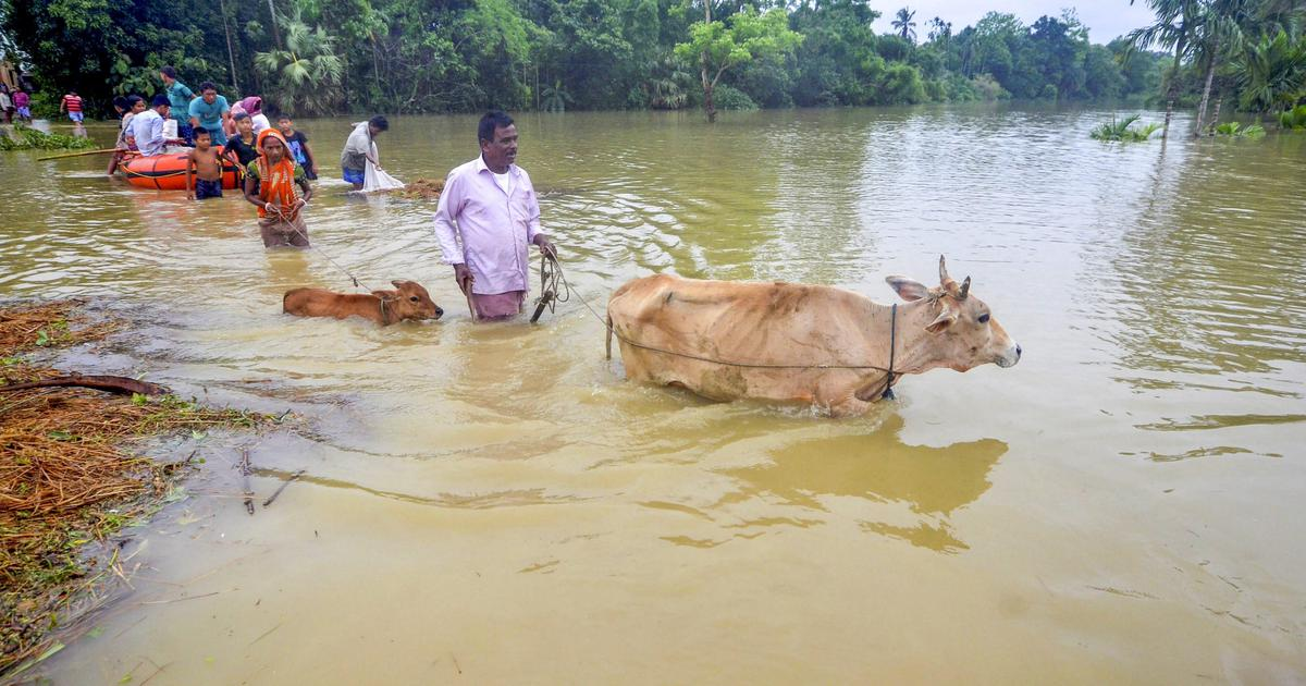 Tripura: Two people killed, over 3,000 families left homeless as torrential rain causes floods