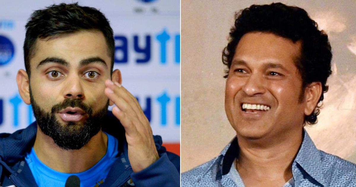 'Don't be satisfied, just be happy': Sachin Tendulkar's advice to Virat Kohli