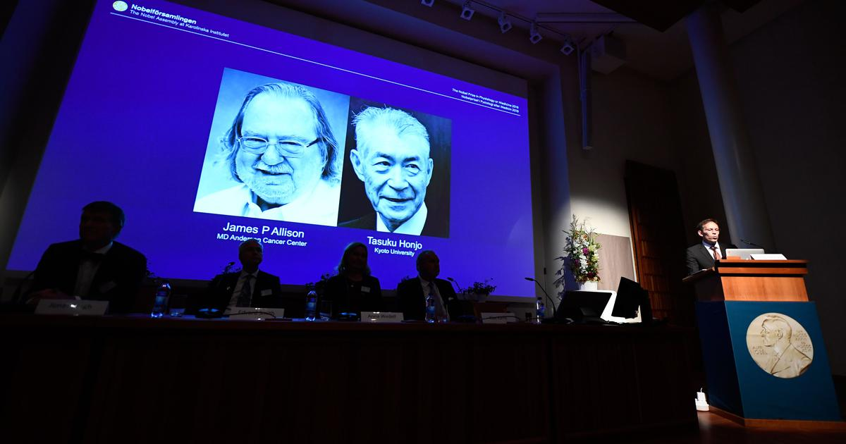 Nobel Prize for Medicine Goes to Cancer Immune Therapy Pioneers