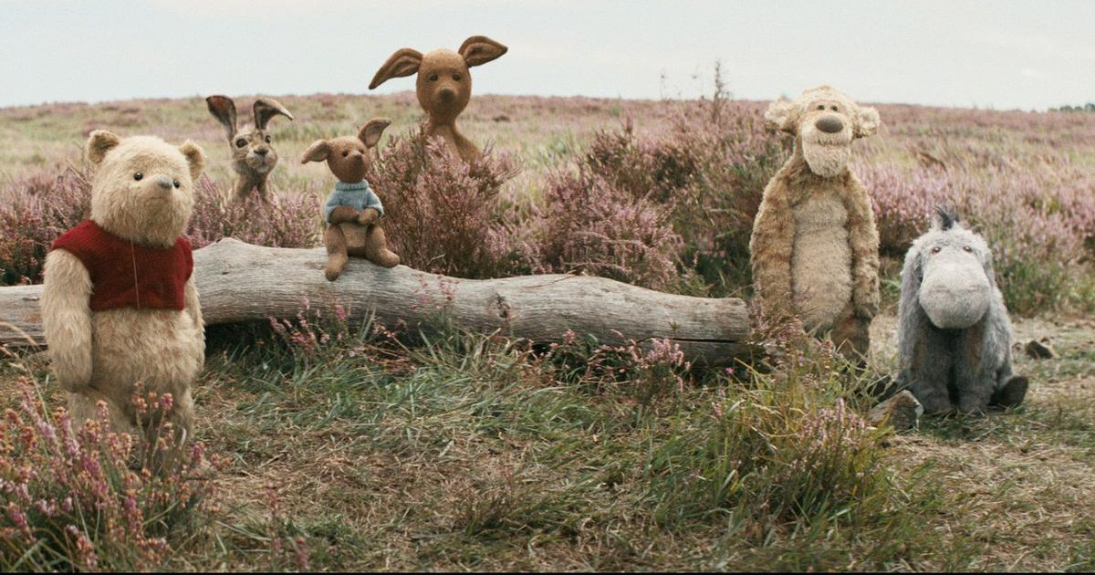 Christopher Robin meets his childhood friend the silly old Winnie-the-Pooh