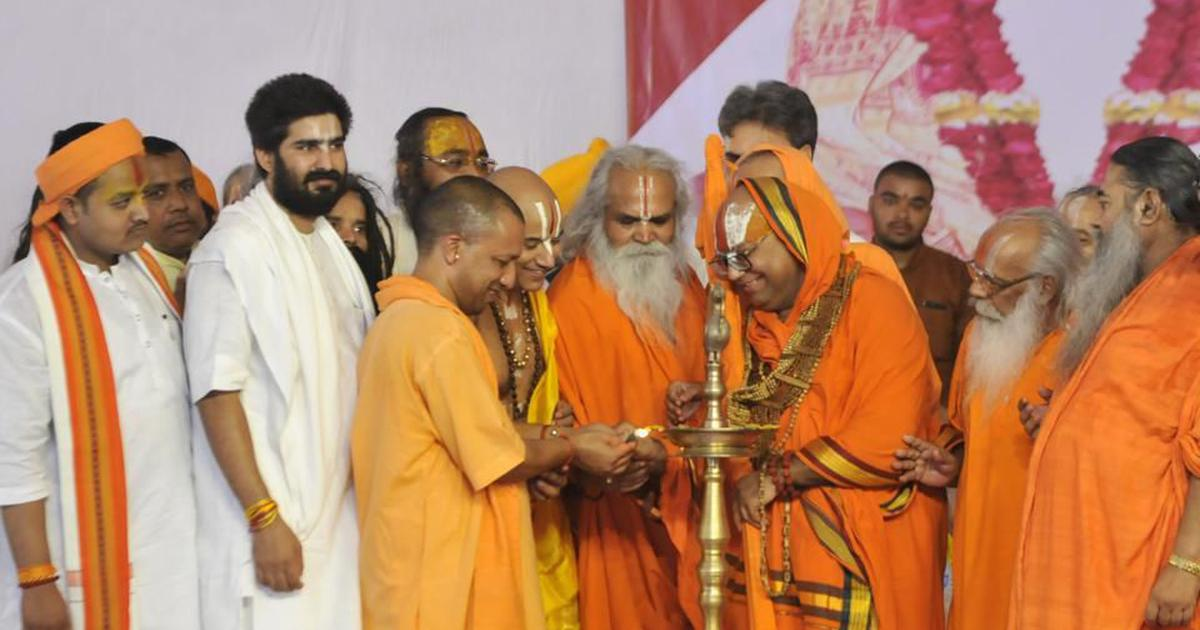 'Ram temple will be built in Ayodhya,' Adityanath promises religious leaders