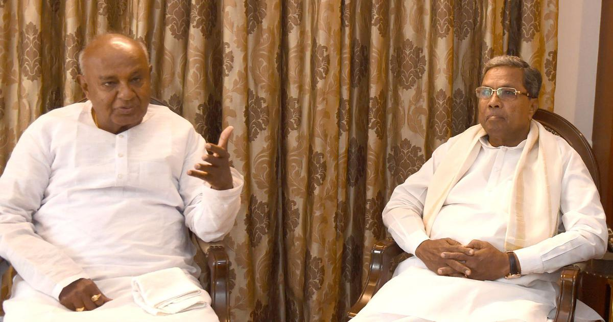 Karnataka: HD Deve Gowda blames Siddaramaiah for collapse of Congress-JD(S) coalition